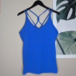 Athleta Blue Enlightenment Workout Yoga Tank Top